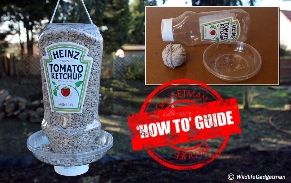 home recycling bin ideas with Make A Ketchup Bottle Bird Feeder on 50 Easy Diy Projects Made From Items In Your Recycling Bin moreover Watch also Nine Wacky Ways To Reuse Appliance Parts in addition Streetscape Modern Trash Receptacle p 2659 further Triple Wheelie Bin Storage.